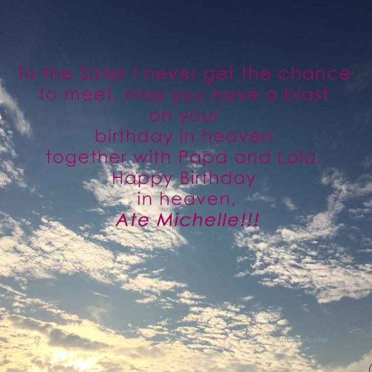 Happy Birthday Ate Michelle